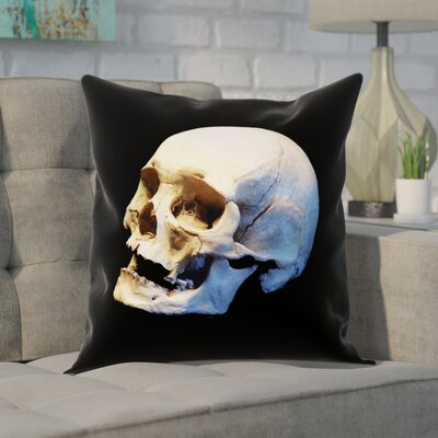 Mensa Skull Pillow Cover Size: 18 x 18
