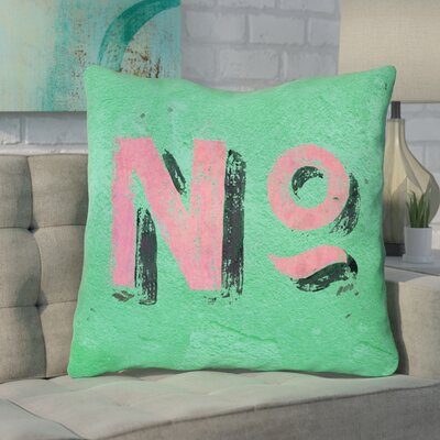 Enciso Graphic Wall Euro Pillow with Zipper Color: Green/Pink