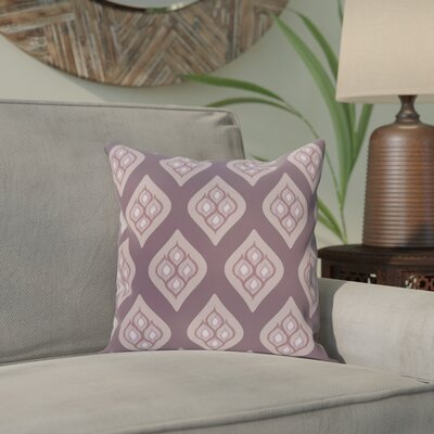 Arnisha Geometric Throw Pillow Size: 18 H x 18 W, Color: Purple / Purple