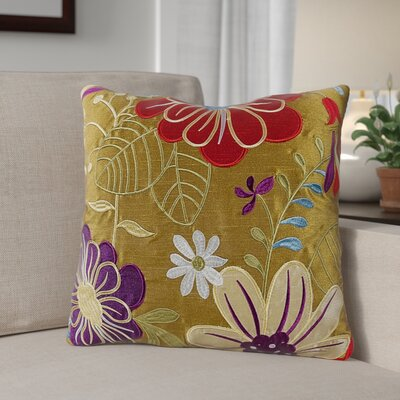 Armadillo Floral 100% Cotton Throw Pillow