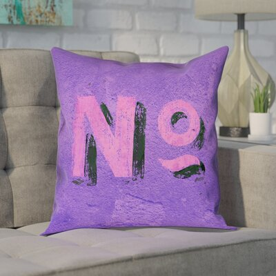 Enciso Graphic Wall Pillow Cover Size: 14 x 14, Color: Purple/Pink