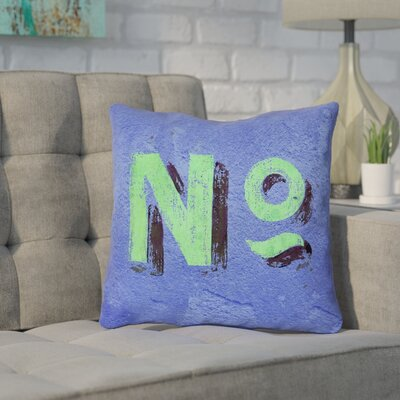 Enciso Graphic Wall Outdoor Pillow Size: 18 x 18, Color: Blue/Green