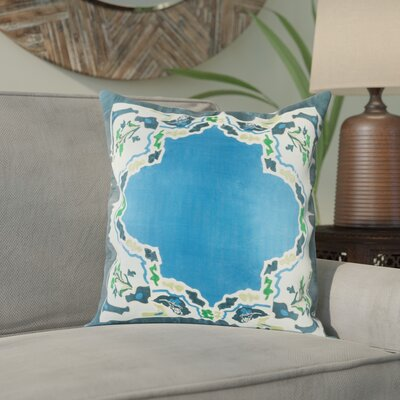 Alois 100% Silk Square Throw Pillow Cover Size: 20 H x 20 W x 1 D, Color: Bright Blue