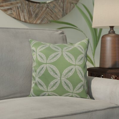Viet Tidepool Throw Pillow Size: 16 H x 16 W, Color: Green