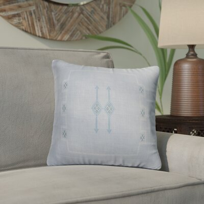 Stellan Throw Pillow Color: Blue, Size: 18 x 18