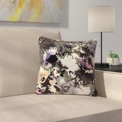 Jessica Wilde Punk Floral Outdoor Throw Pillow Size: 16 H x 16 W x 5 D