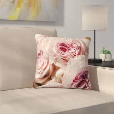 Crissy Mitchell Roses Floral Outdoor Throw Pillow Size: 18 H x 18 W x 5 D