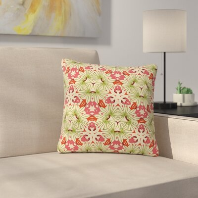 Laura Nicholson Thalia Floral Abstract Outdoor Throw Pillow Size: 16 H x 16 W x 5 D