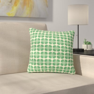 Celtic Crosses Pattern Outdoor Throw Pillow Size: 16 H x 16 W x 5 D