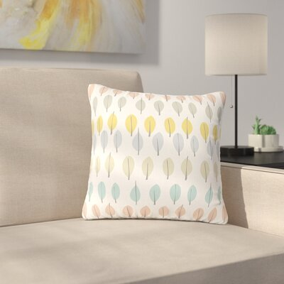 Gukuuki Simple Leaves Nature Outdoor Throw Pillow Size: 18 H x 18 W x 5 D
