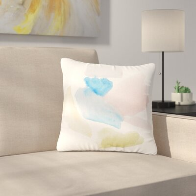 Jennifer Rizzo Confetti Watercolor Abstract Outdoor Throw Pillow Size: 16 H x 16 W x 5 D