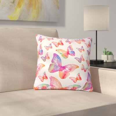 Li Zamperini Butterfly Outdoor Throw Pillow Size: 18 H x 18 W x 5 D