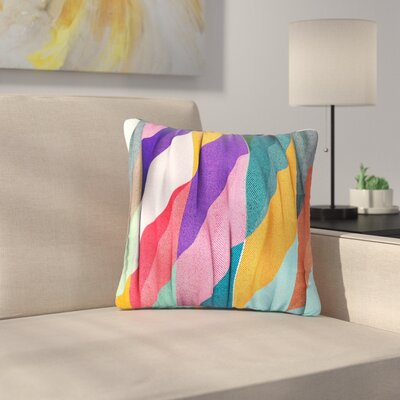 Danny Ivan Timeless Texture Stripes Multicolor Outdoor Throw Pillow Size: 18 H x 18 W x 5 D