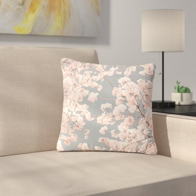 Iris Lehnhardt Rosy Sky Floral Outdoor Throw Pillow Size: 18 H x 18 W x 5 D