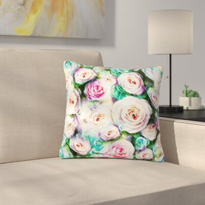 Dawid Roc Bright Rose Floral Abstract Floral Outdoor Throw Pillow Size: 18 H x 18 W x 5 D