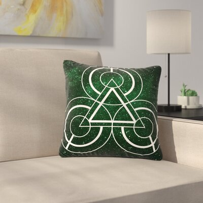 Matt Eklund Emerald City Geometric Digital Outdoor Throw Pillow Size: 16 H x 16 W x 5 D