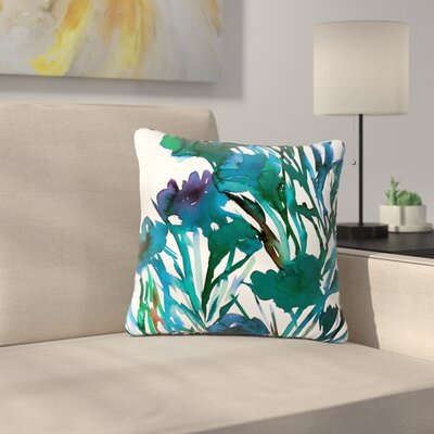 Ebi Emporium Petal for Your Thoughts Outdoor Throw Pillow Size: 18 H x 18 W x 5 D