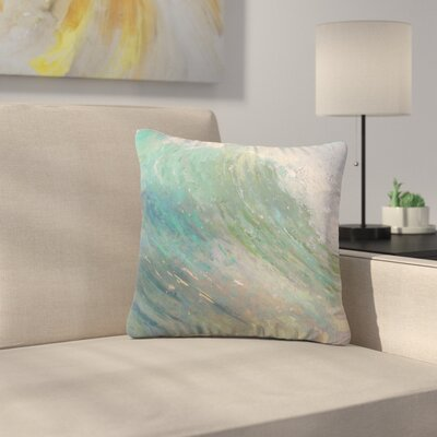 Carol Schiff Wall of Water Painting Outdoor Throw Pillow Size: 16 H x 16 W x 5 D