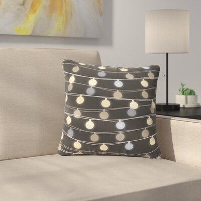 Marta Olga Klara Fairy Lights Love Bokeh Outdoor Throw Pillow Size: 18 H x 18 W x 5 D