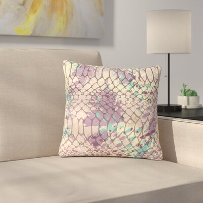 Chickaprint Snakeskin Outdoor Throw Pillow Size: 16 H x 16 W x 5 D