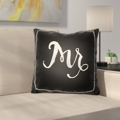 Jaxson Indoor/Outdoor Throw Pillow Size: 20 H x 20 W x 4 D, Color: Black