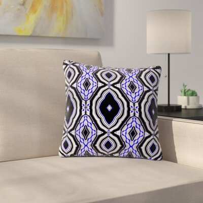 Dawid Roc Inspired by Psychedelic Art Abstract Outdoor Throw Pillow Size: 16 H x 16 W x 5 D, Color: Purple