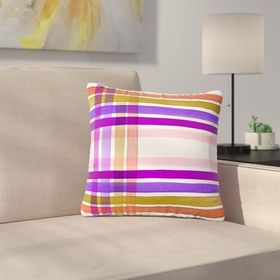 Ebi Emporium Plaid Stripes in Color 6 Outdoor Throw Pillow Size: 18 H x 18 W x 5 D