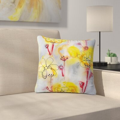 Maria Bazarova Flowers Outdoor Throw Pillow Size: 18 H x 18 W x 5 D