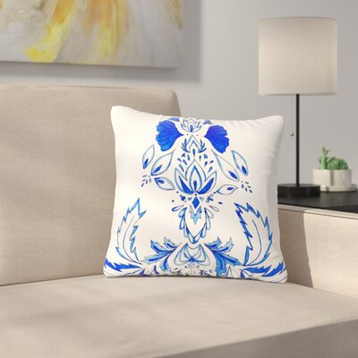 Cecibd Azulejo Nature Outdoor Throw Pillow Size: 16 H x 16 W x 5 D