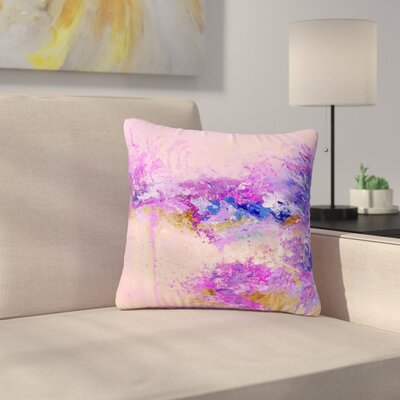 Ebi Emporium When Land Met Sky Outdoor Throw Pillow Size: 16 H x 16 W x 5 D, Color: Purple/Pink