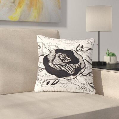 Li Zamperini Like a Rose Outdoor Throw Pillow Size: 16