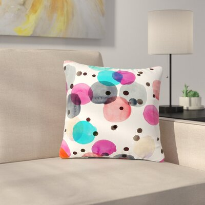 Crystal Walen Festive Dots Outdoor Throw Pillow Size: 16 H x 16 W x 5 D