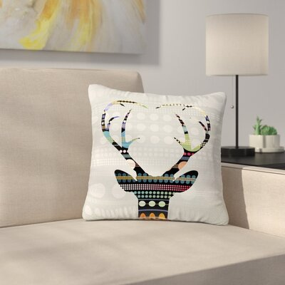 Angelo Cerantola Pop Deer Outdoor Throw Pillow Size: 16 H x 16 W x 5 D