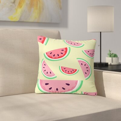 Afe Images Watermelon Background Food Outdoor Throw Pillow Size: 16 H x 16 W x 5 D