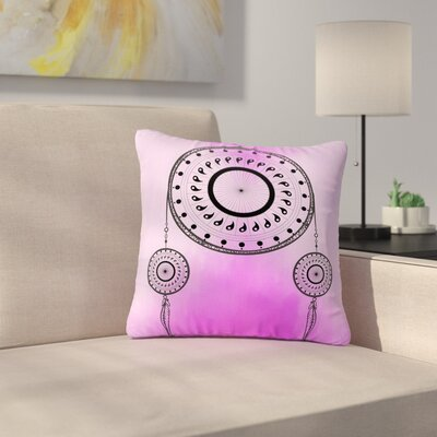 Fotios Pavlopoulos Bohemian Dream Catcher Outdoor Throw Pillow Size: 16 H x 16 W x 5 D