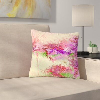 Ebi Emporium When Land Met Sky Outdoor Throw Pillow Size: 18 H x 18 W x 5 D, Color: Pink/Green