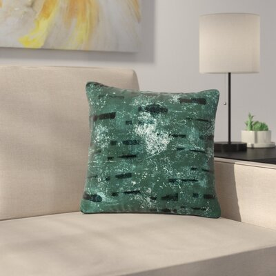 Iris Lehnhardt Tex Mix Outdoor Throw Pillow Size: 18 H x 18 W x 5 D, Color: Green
