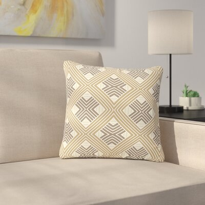 Julia Grifol Geometries Geometric Outdoor Throw Pillow Size: 18 H x 18 W x 5 D