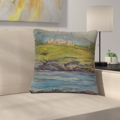 Cyndi Steen Castle Ruins Outdoor Throw Pillow Size: 18 H x 18 W x 5 D