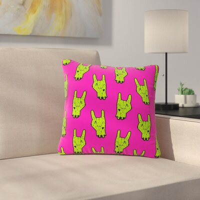 Zombie Rock Outdoor Throw Pillow Size: 18 H x 18 W x 5 D