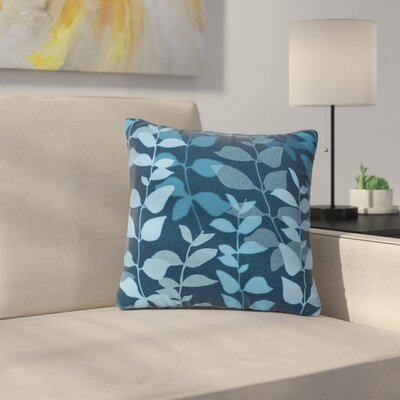 Carolyn Greifeld Leaves of Dreams Outdoor Throw Pillow Size: 18 H x 18 W x 5 D, Color: Blue
