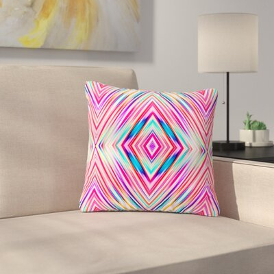 Dawid Roc Modern Tribal Ethnic Ikat Geometric Outdoor Throw Pillow Size: 16 H x 16 W x 5 D