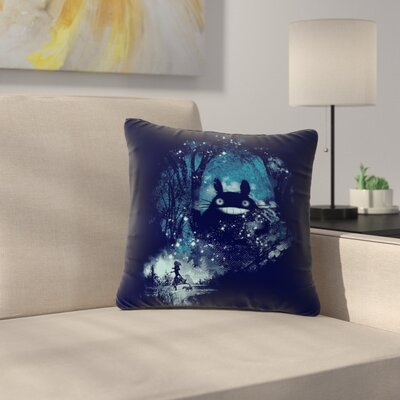 Frederic Levy-Hadida The Big Friend Fantasy Outdoor Throw Pillow Size: 16 H x 16 W x 5 D