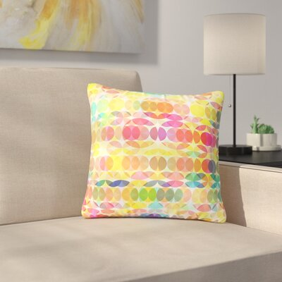 Fimbis SercuelarToo Geometric Circles Outdoor Throw Pillow Size: 18 H x 18 W x 5 D