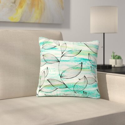 Jessica Wilde Tropical Leaf Garden Nature Outdoor Throw Pillow Size: 18 H x 18 W x 5 D