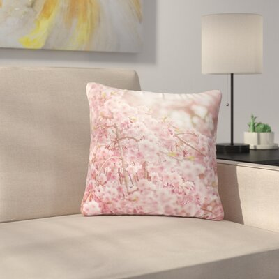 Debbra Obertanec Spring Floral Digital Outdoor Throw Pillow Size: 18 H x 18 W x 5 D