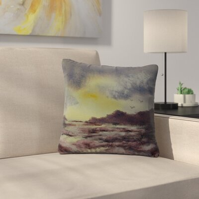 Cyndi Steen Crashing Waves Outdoor Throw Pillow Size: 16 H x 16 W x 5 D