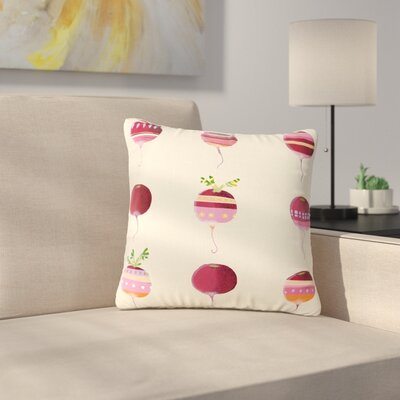 Judith Loske Happy Radishes Ped Outdoor Throw Pillow Size: 18 H x 18 W x 5 D