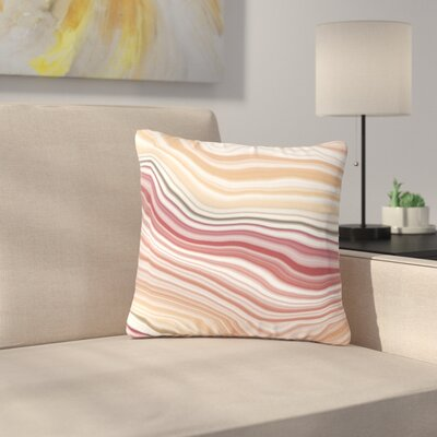 Sunset Brick Outdoor Throw Pillow Size: 16 H x 16 W x 5 D