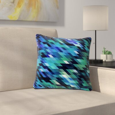 Dawid Roc Geometric City Digital Outdoor Throw Pillow Size: 18 H x 18 W x 5 D